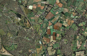 Aerial view under UK gov open licence agreement 140417